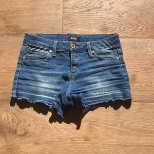 DKNY girls hipster denim shorts